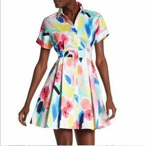 Kate Spade watercolor shirtdress RARE